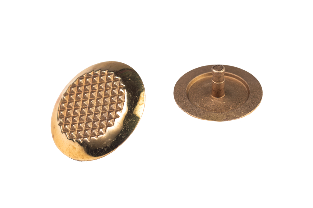 Тактильный индикатор (Конус) со штифтом Латунь